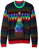 Blizzard Bay Men's Ugly Sweater Hanukkah, Rainbox...