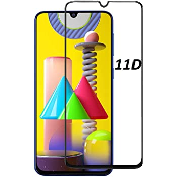 JGD PRODUCTS® Edge to Edge Tempered Glass Screen Protector for Samsung Galaxy F41/M31/M21/M30S/M30/A20/A30 with Installation kit (Pack of 1)