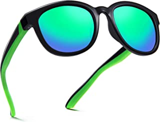 DEAFRAIN Kids Sunglasses Polarized Sport TPEE Unbreakable Flexible UV Protection for Boys Girls Age 6-12