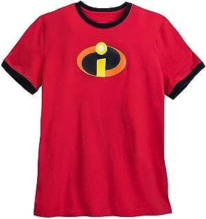 DisneyIncredibles Logo Ringer T-Shirt for Men Red