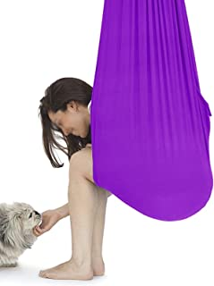 Indoor Therapy Swing for Kids Yoga Sensory Cotton Fabric Travel Camping Hammock Bedroom Chair Bed Outdoor Safety Durable (...