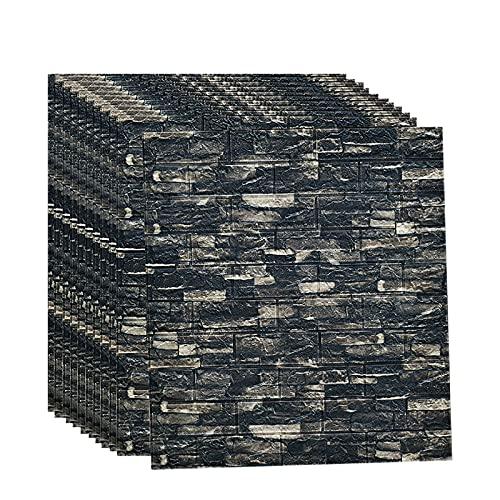 QWNDTIE Paneles de Pared 3D Efecto de ladrillo DIY Autoadhesivo Etiqueta de la Pared Papel Pintado para la habitación de los niños Dormitorio Sala de Estar Decorativa 70 * 77 CM(Color:D,Size:20pcas)