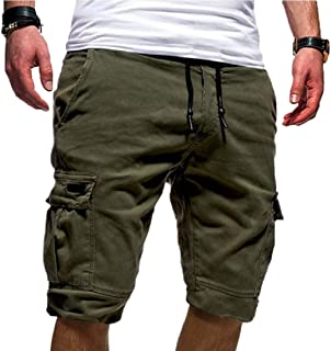 Energy Men Half Pants Outdoor Relaxed Fit Sport Drawstring Cargo Shorts
