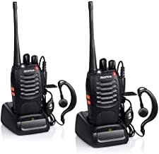 Baofeng BF-888S Rechargeable Long Range 5W Two Way Radio Walkie Talkies 16 Channel Handheld Radio Built in LED Torch Microphone with Earpiece(Pack of 2) 2 Pack