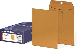 Columbian Clasp Envelopes, 6 x 9 Inches, Brown Kraft, 100 Per Box (CO955)