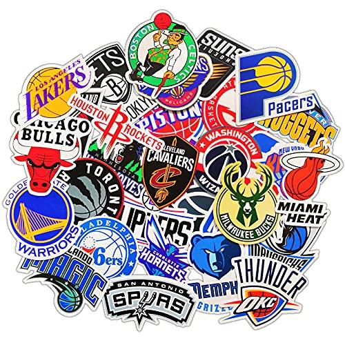 NBA baloncesto equipo emblema maleta etiqueta engomada teléfono móvil shell guitarra panel skateboard computadora maleta pegatina 31 unids
