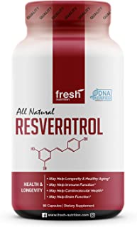 Resveratrol Supplement - Strongest DNA Verified - Natural, Pure and Potent Polyphenols Supplement - Antioxidant, Anti Agin...