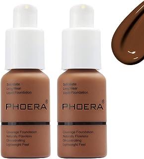 Phoera Foundation Matte Oil Control Concealer Foundation Cream,Long Lasting Waterproof Matte Liquid Phoera Foundation, 110...