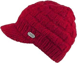 Gorro Beanie Basket Weave de Kusan - Rojo