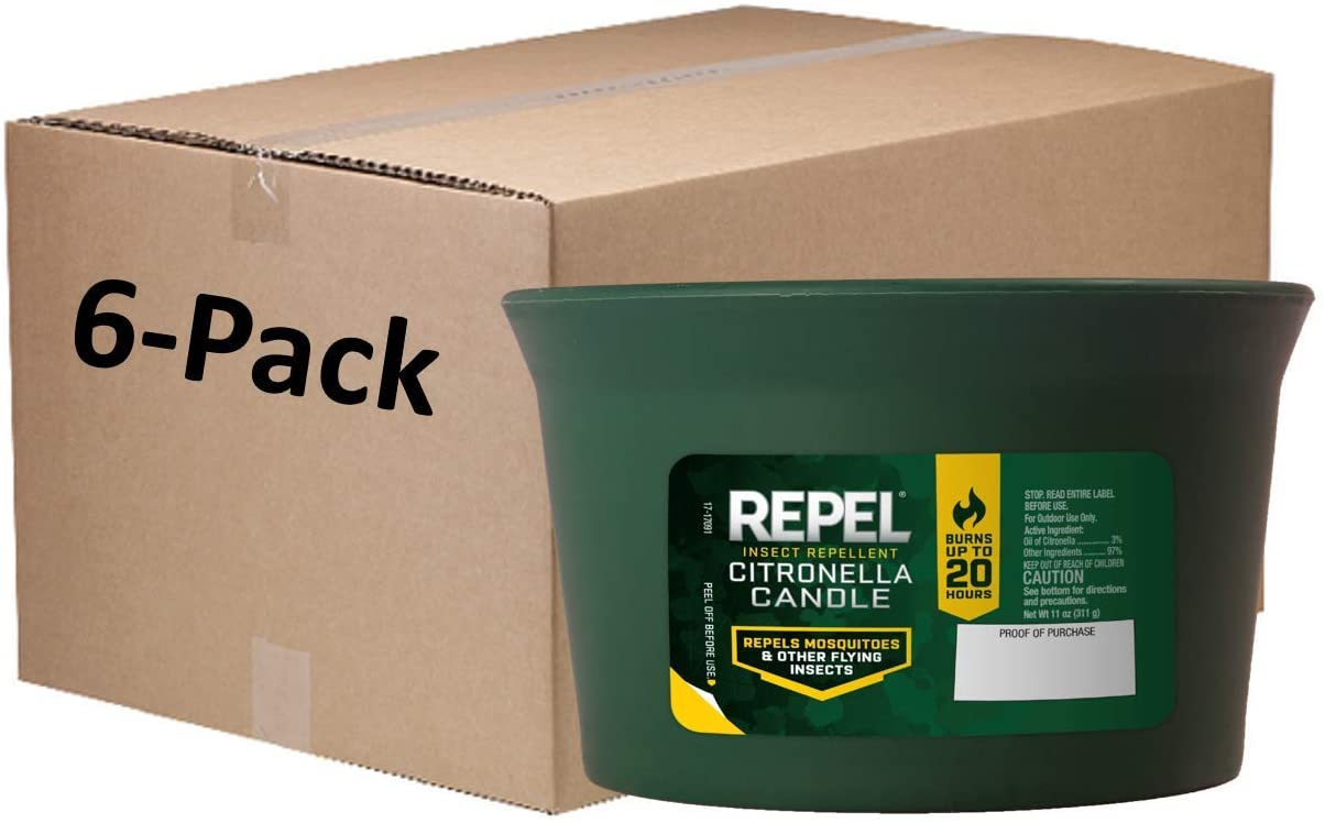Repel Cheap mail order sales HG-94224 Insect Citronella Candle latest 6 Pack of