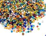 1100 unidades de cuentas de cristal de 4 mm, colores mezclados, 6/0, perlas de pony, pequeñas perlas infantiles, cuentas de semillas.