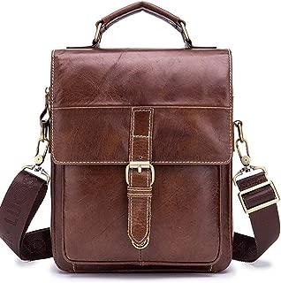 Chest Backpack,Outdoor Sling Bag,Vintage Leather for Men,Crossbody Shoulder Daypack Travel Camping Tactical Daypack