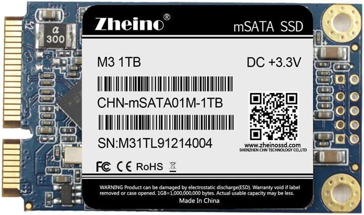 Zheino mSATA 1TB Mini SATAIII SSD 3D Solid San Diego Mall Internal discount State D Nand