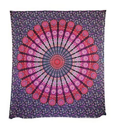 Aga's Own Indische Mandala Tagesdecke, Wandtuch, Tagesdecke Mandala Druck - 100prozent Baumwolle, 210x240 cm, Bettüberwurf, Sofa Überwurf (Muster 14)