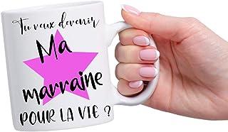 Mug personnalisé - Demande originale future marraine - Tasse magique - Tu veux devenir ma marraine pour la vie