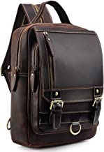 Best mens small leather backpack Reviews