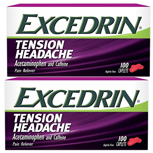 Excedrin Tension Headache Caplets 100 Ct Pack of 2