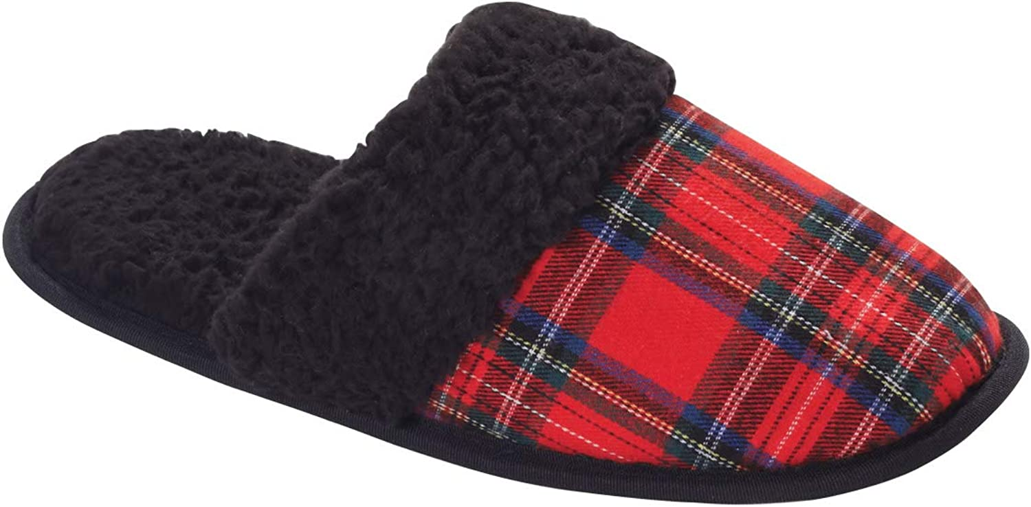 Carol Wright Gifts Faux Sherpa Lined Slipper