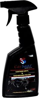 CAR SAAZ High Performance Leather & Vinyl Polish | Perfect for Car Dashboard Leather Seats Covers Door Panels Furniture Sh...