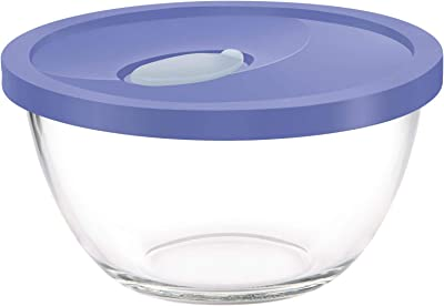 Treo by Milton Mixing Bowl with Flexi Lid, 2500 ml, Blue