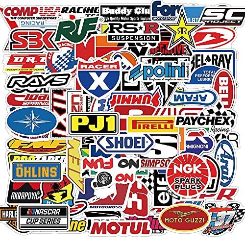 DUOYOU Graffiti Jdm Racing Car Modificación Pegatinas Impermeable Motocicleta Casco Motor Portátil Etiqueta Juguetes Niño/100pcs