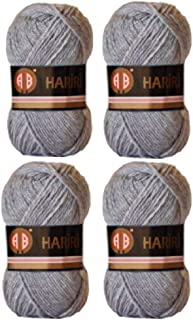 4X AB Hariri Light Grey Colour No.195 Crochet and Knitting Yarn