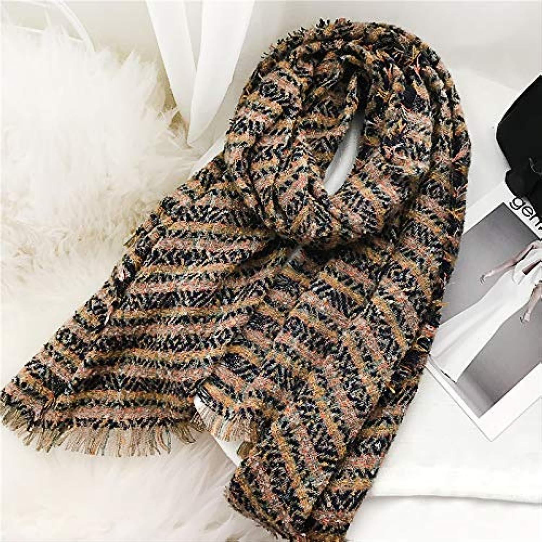 Zhuyuanhai Scarf female autumn and winter wild thickening bib female long tassel warm shawl plaid