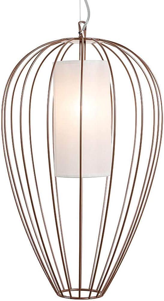 Karman cell, lampada a sospensione Ø55 cm, con filo metallico in bronzo lucido SE615DM INT