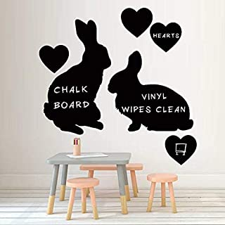 3D Wall Stickers Two Rabbits Love Blackboard Stickers Wall Stickers Living Room Bedroom Classroom Wall Decoration Stickers