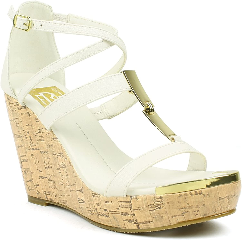 Mark & Maddux Women's Shakira-01 Platform Wedge Sandal