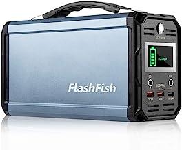 300W Solar Generator, FlashFish 60000mAh Portable Power Station Camping Potable Generator, CPAP Battery Recharged by Solar...