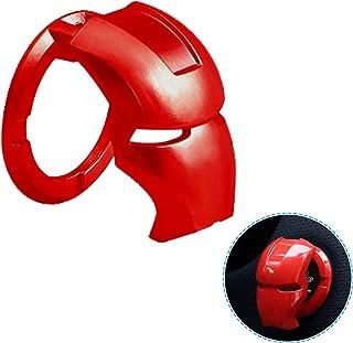 1pcs Push to Start Button Cover, Car Start Button Cover, Engine Start Stop Button Cover Anti-Scratch 3D Iron Man Car Inter...