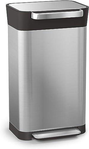 Joseph Joseph Titan 30 Trash Compactor kitchen bin - Stainless Steel