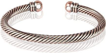 Sunwing BALCK Pure Copper Alloy Torque Healthy Magnetic Power Bracelet Bangle Adjustable C05