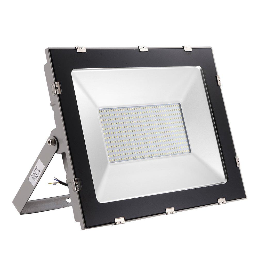 2 Piezas 300W Floodlight Foco LED Proyector de Luz Lámpara IP65 Impermeable Iluminación Exterior, Iluminación para Jardín al Aire Libre, Patio, Terraza (300W-Blanco Frío): Amazon.es: Iluminación