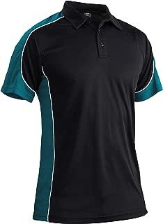 MAGCOMSEN Men's Outdoor Golf Polo Short Sleeve 3 Button Quick Dry Casucal Pique Jersey Polo Shirts