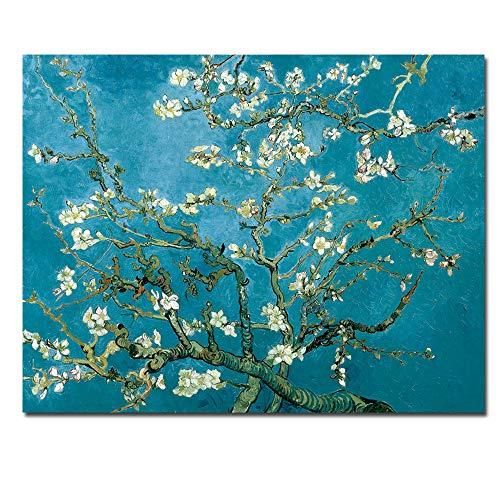 zgmtj Sin Fisuras Florales del árbol de Almendra Pintura al óleo Lienzo Cuadro de la Pared para Sala de Estar