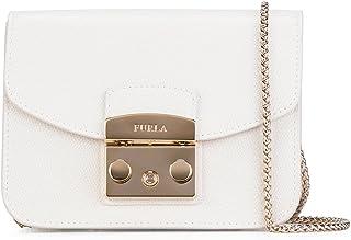 Furla Women's 820677PET White Leather Shoulder Bag