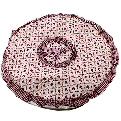 Yesiidor - Cubierta de abanico de flores de encaje para muebles redondos, a prueba de polvo,...