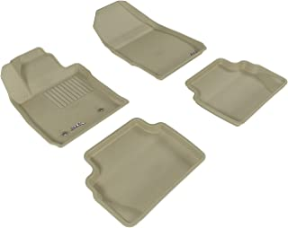 3D MAXpider All-Weather Floor Mats for Ford Fiesta 2011-2019 Custom Fit Car Floor Liners, Kagu Series (1st & 2nd Row, Tan)