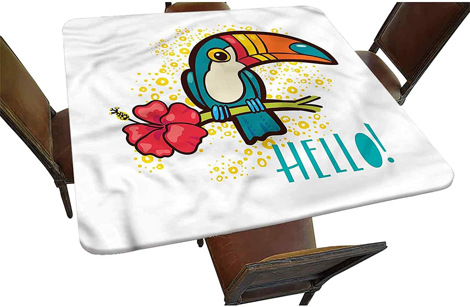 Hello Decorative New Orleans Mall Elastic Edged Square Toucan Virginia Beach Mall Tablecloth B Fitted