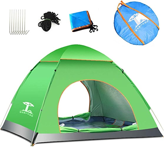 de plein air GAMES Tente de Camping Tente familiale imperméable extérieure Ouverte Rapide de 1-2 Personnes avec Le Sac de Transport pour Le Voyage ou la Plage de randonnée en