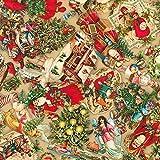 Robert Kaufman Weihnachtsstoff – Vintage Weihnachten –