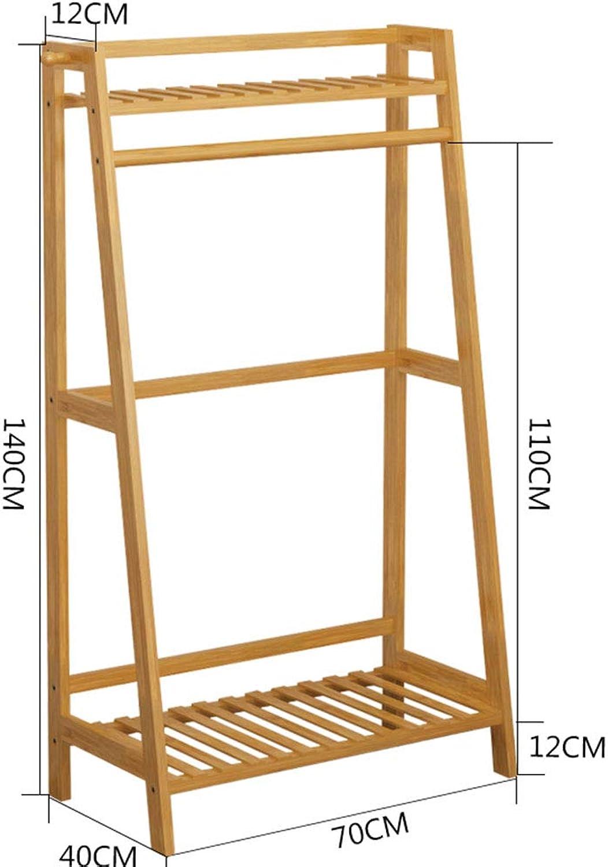 Clothes Hat Tree-Clothes Hat Tree Coat Rack Hanger Storage Shelf Bamboo,100cm40cm140cm FENPING (Size   Couple-recommended-70cm)