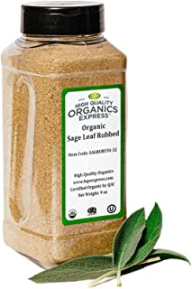 HQOExpress | Organic Sage Leaf Rub | 9 oz. Chef Jar