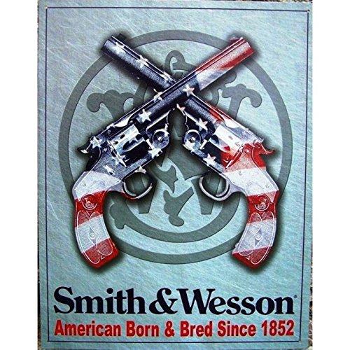hotrodspirit–Piano Cottura Smith & Wesson Bandiera usaen Revolver Incrociato Pub USA