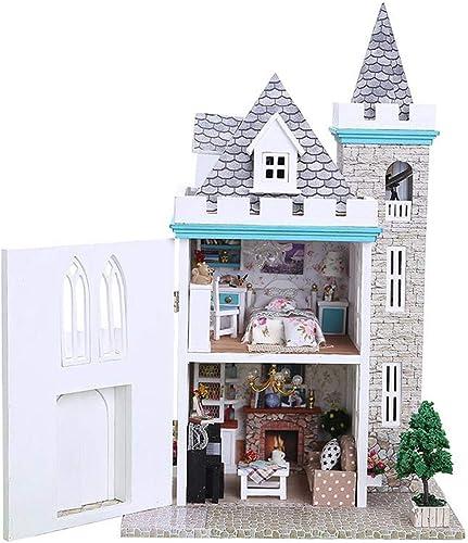 ¡no ser extrañado! AHWZ Casa de muñecas DIY, casa de muñecas de de de Madera Mini Hut Kit Creativo cumpleaños Regalo para niñas Niños Moonlight Castle  edición limitada en caliente