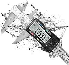 Dijite CaliperMeasuringTool, Digital Caliper with ABS/0 Button, IP54 Waterproof MicrometerCaliperDigital Stainless Steel Body, 6 Inch /150 mm, Inch to Metric Conversion, Auto-off LCD Screen
