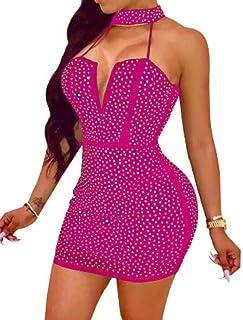 abe4e6cf659ac GRMO Women Sexy Stand Collared Sleeveless Irregular Tube Tops Short Dresses