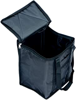 Heart Home Large Size Parachute Lunch Bag Suitable for 3 & 4 Compartment (Black) - CTHH14446